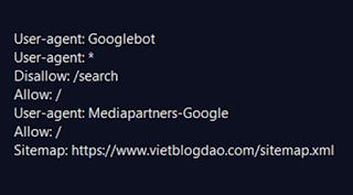 Cách tạo tệp robots.txt cho Blogspot, Blogger