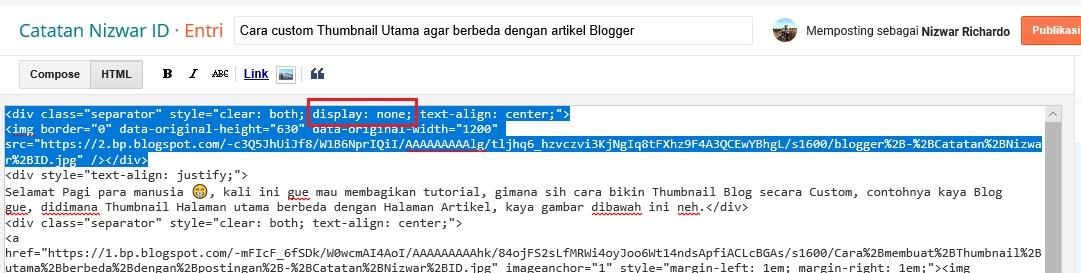 Script jadi yang sudah disisipkan Script Hidden - Catatan Nizwar ID