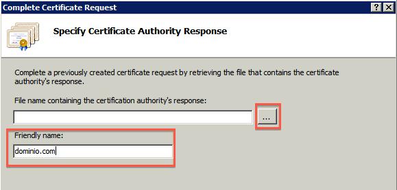 Añadir certificado IIS