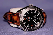 Steve's Omega Planet Ocean on Antique Pecan Alligator with 'TCLS'