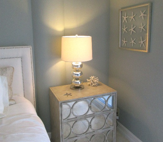 Mirrored Nightstand for Coastal Decor