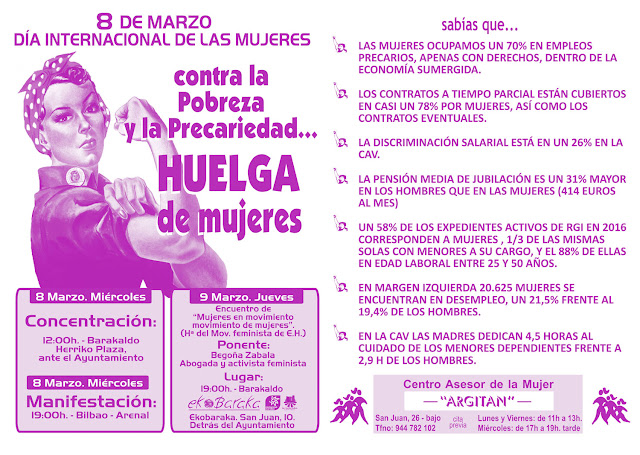 Cartel de la huelga de mujeres del 8 de Marzo