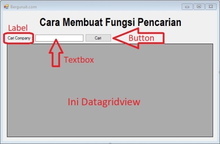 Contoh Project Form Fungsi Pencarian di Datagridview