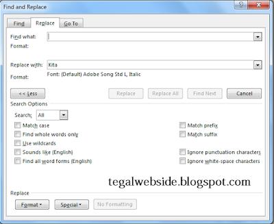 Cara Cepat Replace Kata Di Microsoft Word