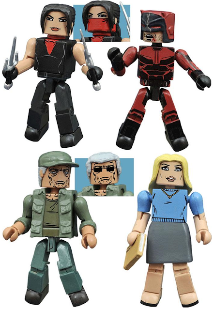 Marvel's Daredevil Season 2 Minimates Box Set by Diamond Select Toys – Daredevil, Elektra, Stick & Karen Page