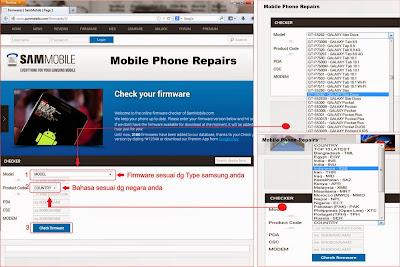 Cara Unduh Firmware Samsng dari SAMMOBILE