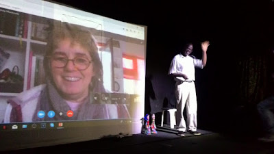 Corina Duyn via Skpye at II PUPPET THERAPY SEMINAR OF BELO HORIZONTE  BRAZIL