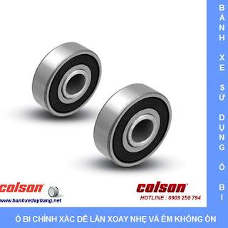 Bánh xe cao su lăn êm không ồn Colson Mỹ 4 inch | STO-4856-448BRK4 sử dụng ổ bi
