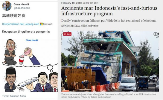 "Warga Jepang Ikutan Kritik Jokowi, Sementara Media Internasional Sebut Proyek Infrastruktur Jokowi ""Fast & Furious"" Karena banyak Yang Roboh"