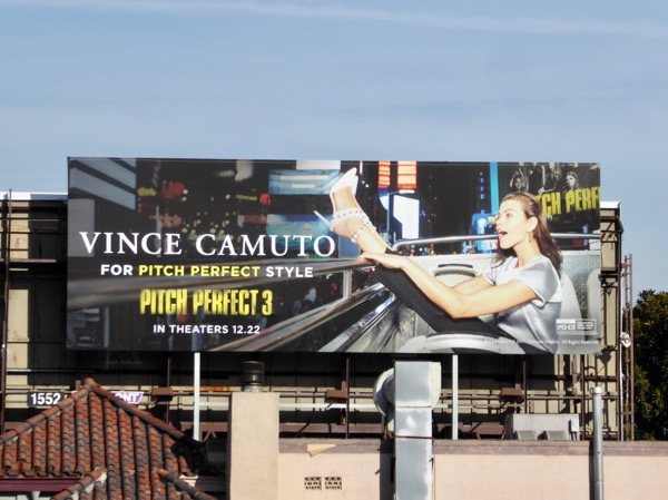 Vince Camuto Pitch Perfect 3 billboard