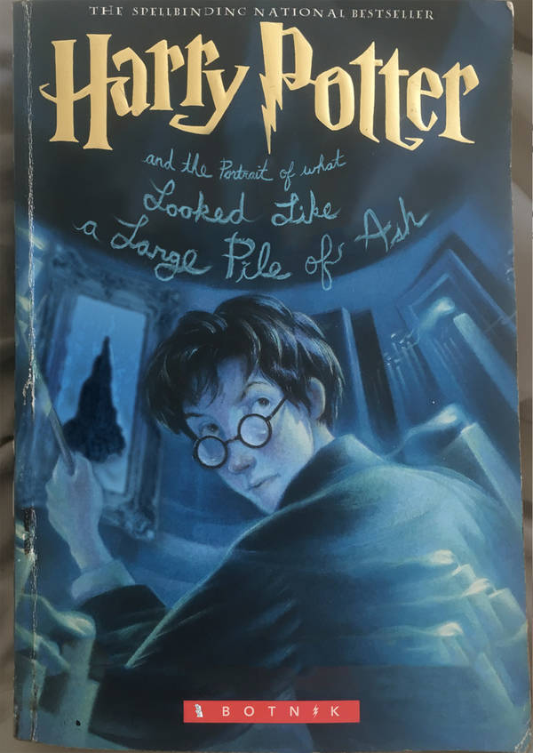 harry harry potter book cover letters