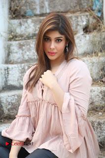 Telugu Actress Aditi Singh Stills in Leather Pants at Nenu Kidnap Iyanu Movie Press Meet  0173.JPG