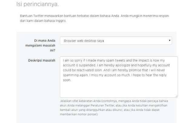 Cara Singkat Untuk Atasi Kam Pu Twitter yang Kena Suspend