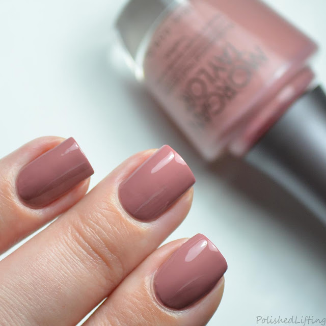 mauve nail polish swatch