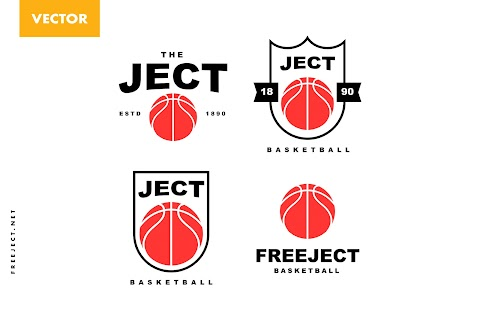 Free Download Minimalist Basketball Logo Design Template- Vector File
