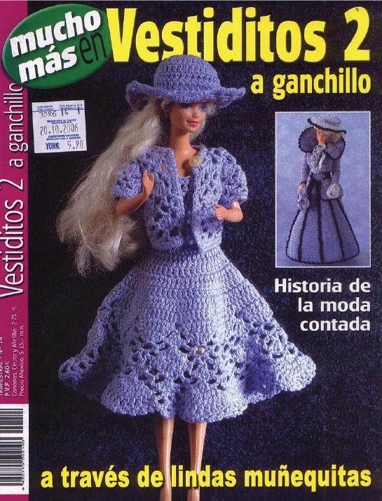 Vestidos 2, a ganchillo de Barbie