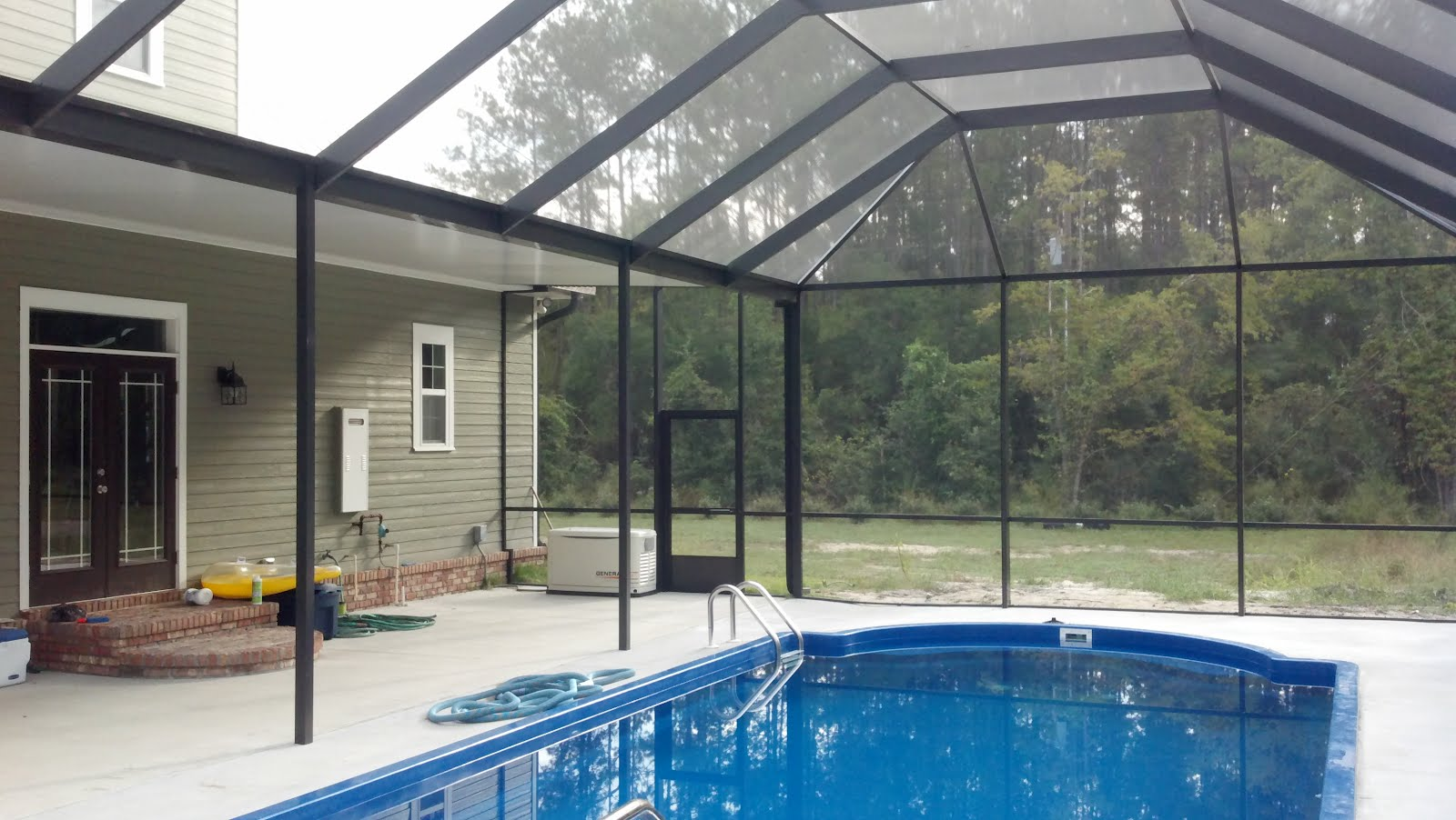 Screen Rooms Tallahassee Pool Enclosure With Solid Roof Area In Crawfordville
