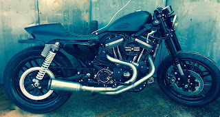 cafe tracker 1200 roadster by hd frosinone side right