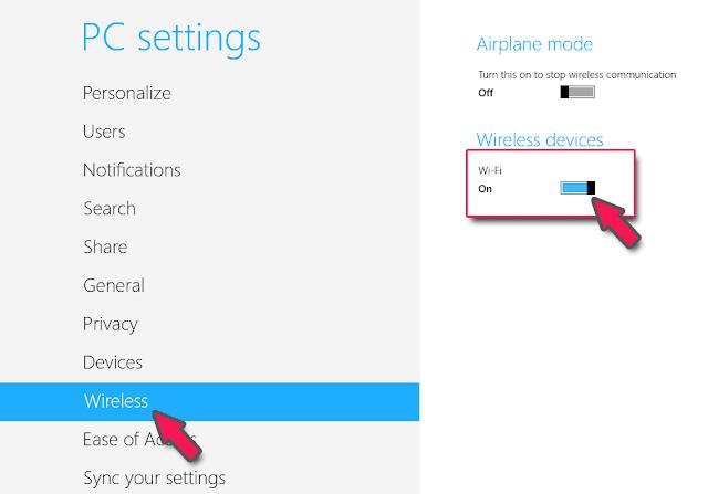 Cara Mengaktifkan Wifi yang Disable pada Windows 8/8.1