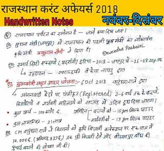 राजस्थान करेंट अफेयर्स 2018, दिसंबर राजस्थान करंट अफेयर्स 2018