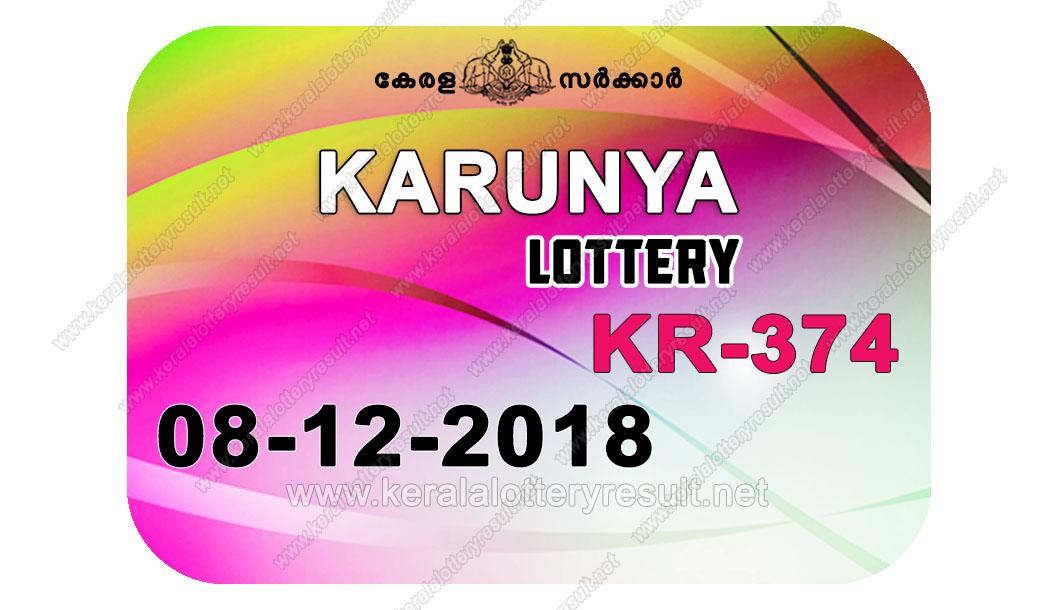 08-12-2018 KARUNYA Lottery KR-374 Results Today - kerala