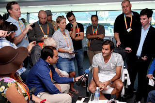 Photos: Roger Federer at Miami Open media day