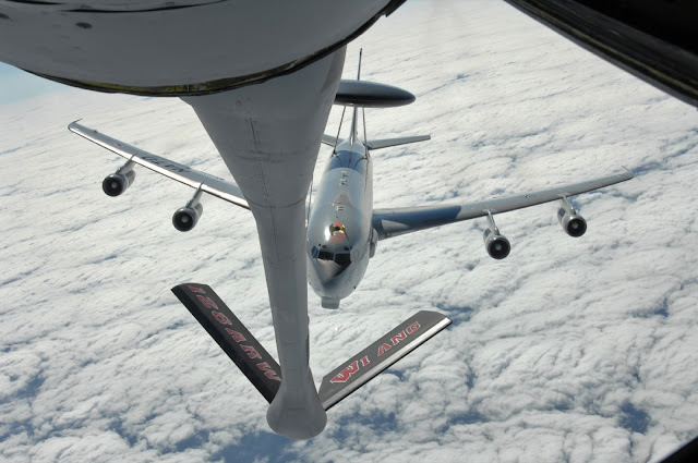 NATO Boeing E-3A Sentry 707-300 AWACS While Air Refueling