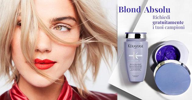 clicca qui per richiedere i campioni di keratase Blond Absolu Bain e Maschera Ultra Violet