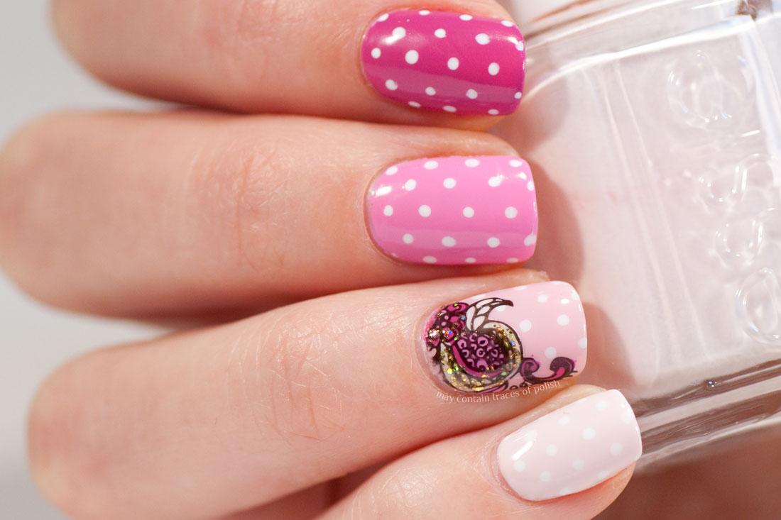 Pink Skittle Nail Art - May contain traces of polish