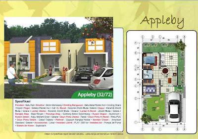 Desain Denah Rumah Type 36/72 Applebay