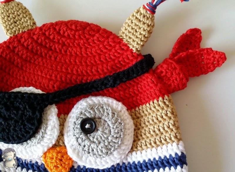 gorrito pirata a crochet
