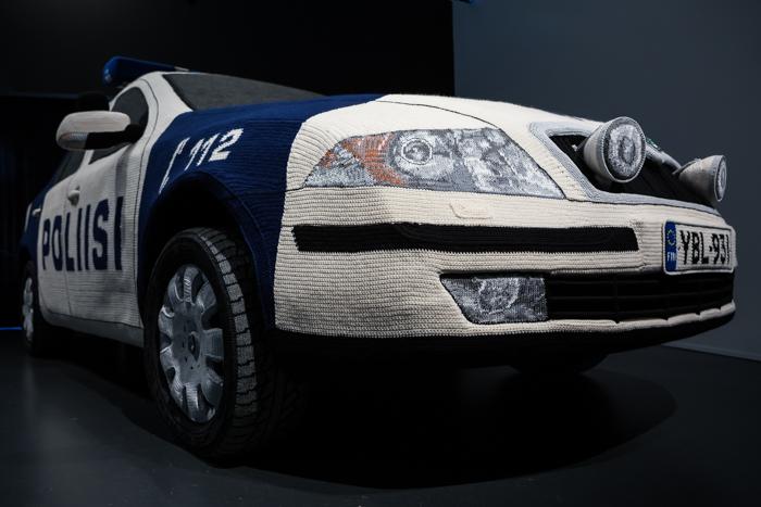 Virkattu poliisiauto Kaija Papu