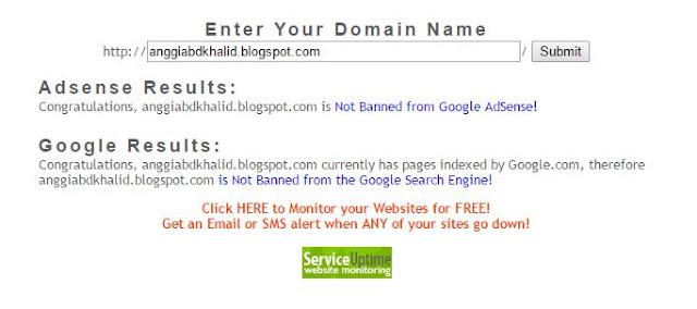 Cara mengetahui apakah blog sudah dibaned dari Adsense