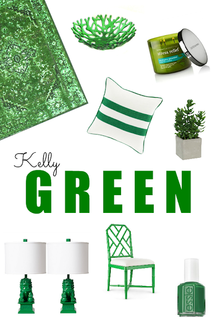 Kelly green home decor