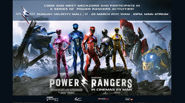 Power Rangers Roadshow sunway velocity mall malaysia