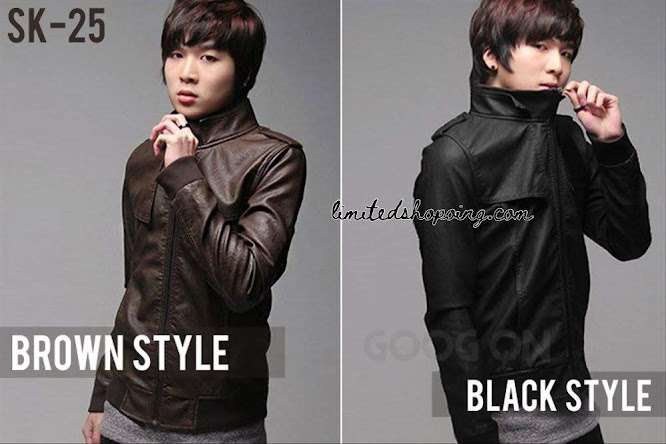 limited shoping jaket kulit korean style sk25