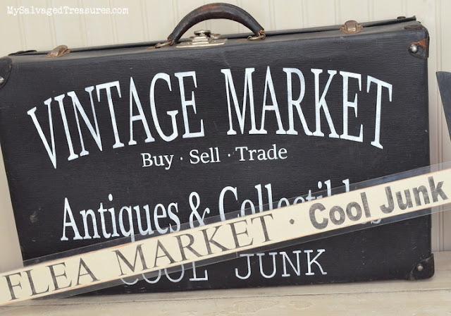 Vintage Market Flea Market Cool Junk signs