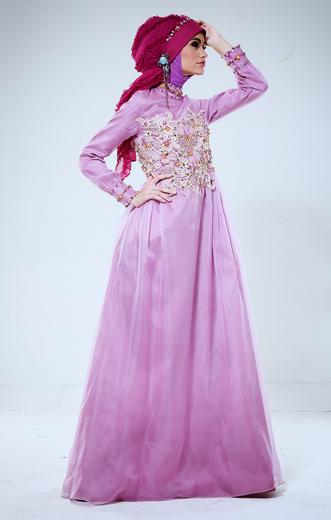 Koleksi Gamis Modern Dari Katalog Shafira Busana Muslim 2017