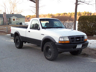 Ford Ranger with bedliner paint job