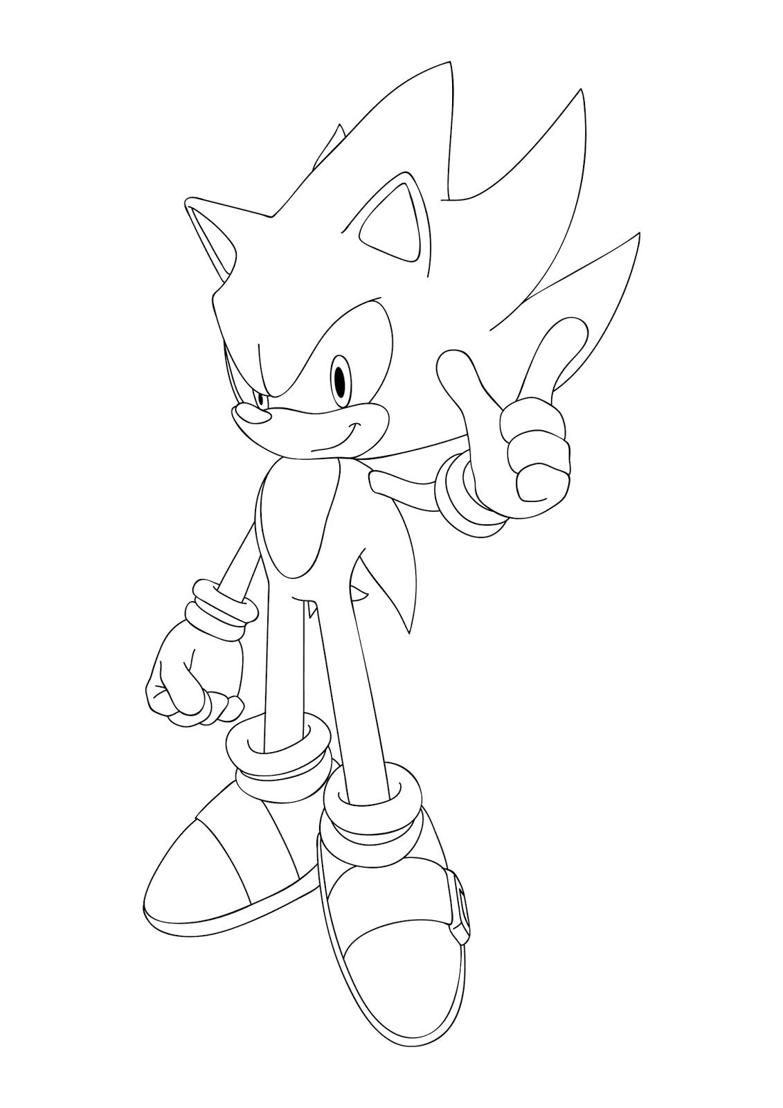 Desenho Para Colorir E Imprimir Do Super Sonic