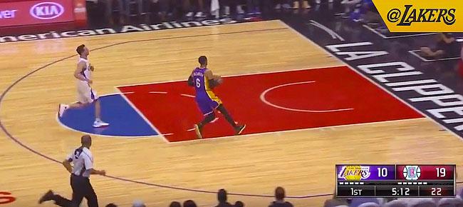Jordan Clarkson's 360 Finish vs Clippers (VIDEO)