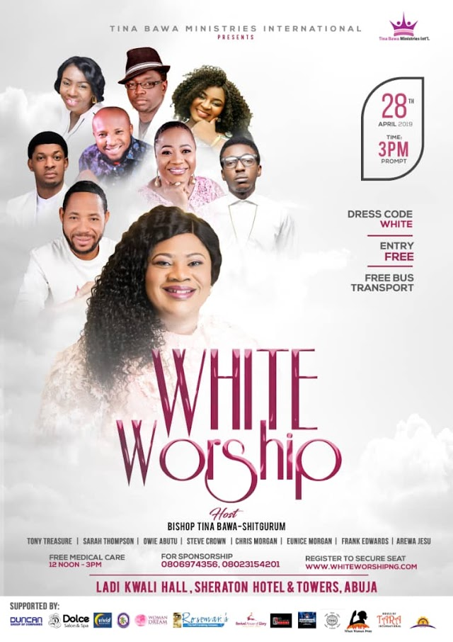 EVENT: Frank Edwards, Chris Morgan, Steve Crown, Owie Abutu and others to headline White Worship 2019.