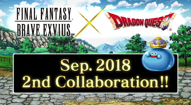 Final Fantasy Brave Exvius Dragon Quest King Slime collaboration September E3 2018