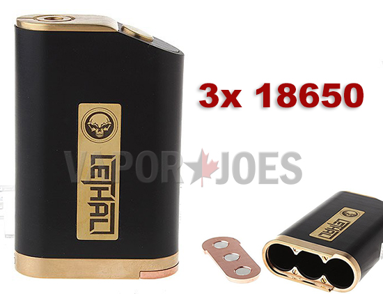 TRIPLE THREAT: THE LETHAL 3 X 18650 STYLE BOX MOD - $32 74