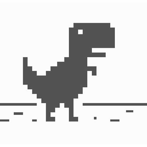 google chrome's offline dinosaur game