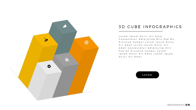3D CUBE Infographic Elements for PowerPoint Slide 6