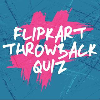 flipkart throwback quiz contest answer