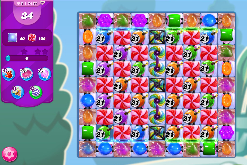 Candy Crush Saga level 7427