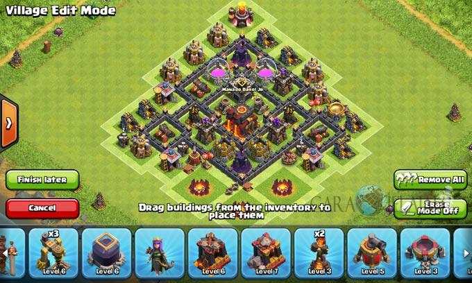pertahanan terbaik untuk base war th 6 di clash of clans 16
