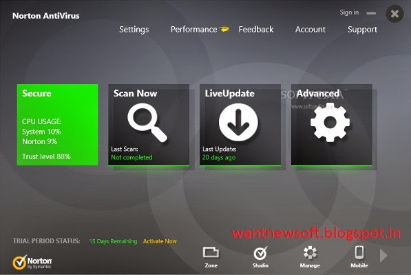 Norton Antivirus 2014 Free Download With 180 Days image